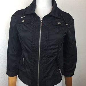 White House Black Market Fitted Moto Style Jacket